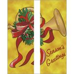 30 x 60 in. Holiday Banner Gold French Horn-Double Sided Design