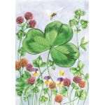 Clover & Bee House Flag