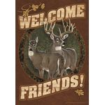 Deer Welcome House Flag