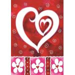 Heart & Flowers House Flag
