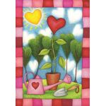 Heart Garden House Flag