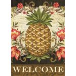 Pineapple & Scrolls House Flag