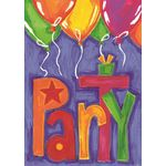 Party Balloons House Flag