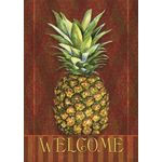 Pineapple Damask House Flag