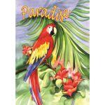 Macaw Paradise House Flag