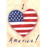 I Heart America House Flag