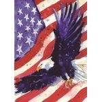 Liberty Eagle House Flag