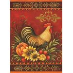 Fall Rooster House Flag