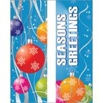 30 x 94-96 in. Holiday Banner Colorful Ornaments-Double Sided Design