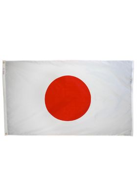3ft. x 5ft. Japan Flag with Brass Grommets