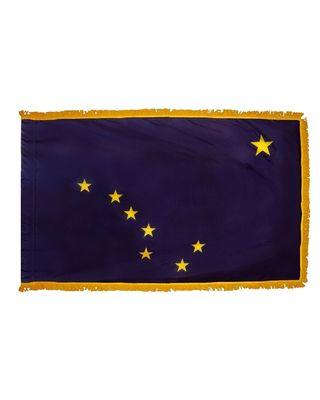 3ft. x 5ft. Alaska Flag Fringed for Indoor Display
