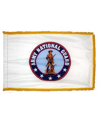 3ft. x 5ft. Army National Guard Flag with Gold Fringe