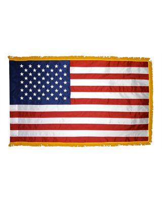 3ft. x 5ft. US Flag for Display w/Fringe