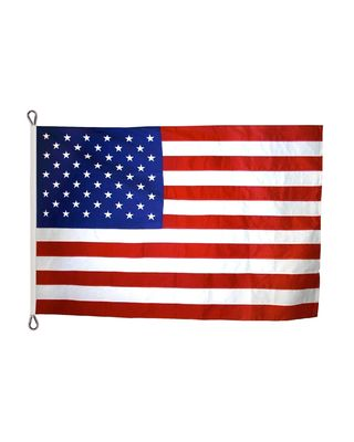 30 x 60ft. US Flag Heavy Polyester Rope Heading