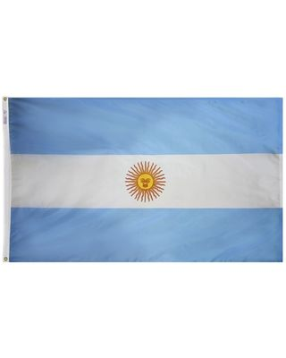 3ft. x 5ft. Argentina Flag Seal with Brass Grommets