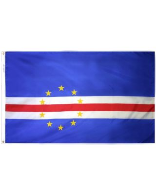 2ft. x 3ft. Cape Verde Flag with Canvas Header