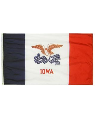 2ft. x 3ft. Iowa Flag with Brass Grommets