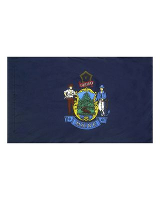 4ft. x 6ft. Maine Flag for Parades & Display