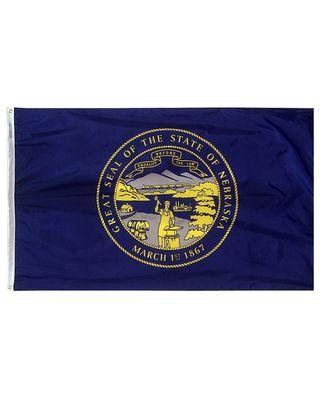 3ft. x 5ft. Nebraska Flag with Brass Grommets