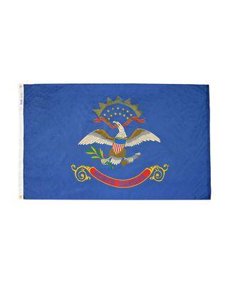 3ft. x 5ft. North Dakota Flag with Brass Grommets