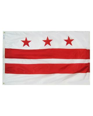 4ft. x 6ft. District of Columbia Flag with Brass Grommets