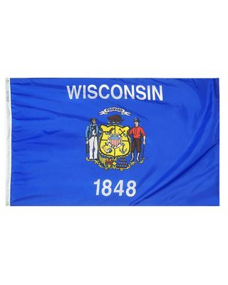 5ft. x 8ft. Wisconsin Flag
