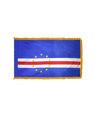 3ft. x 5ft. Cape Verde Flag for Parades & Display with Fringe