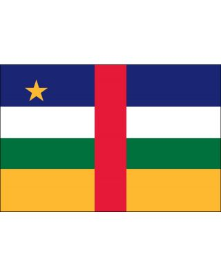 4ft. x 6ft. Central Africa Flag for Parades & Display with Fringe