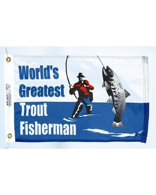 Trout Fisherman Flag