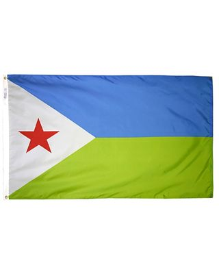 4ft. x 6ft. Djibouti Flag with Brass Grommets
