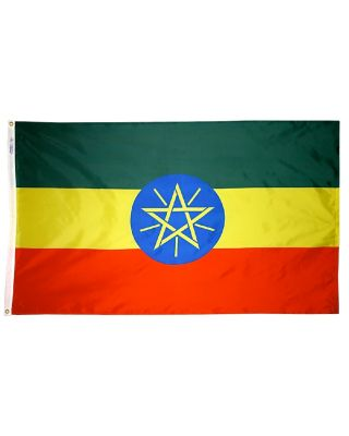 2ft. x 3ft. Ethiopia Flag with Canvas Header