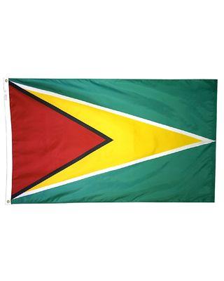 4ft. x 6ft. Guyana Flag w/ Line Snap & Ring