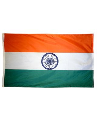2ft. x 3ft. India Flag with Canvas Header