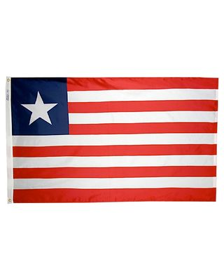 2ft. x 3ft. Liberia Flag with Canvas Header