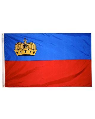 2ft. x 3ft. Liechtenstein Flag with Canvas Header