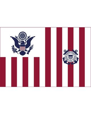 30 in. x 48 in. U.S. Coast Guard Ensign - Size 4
