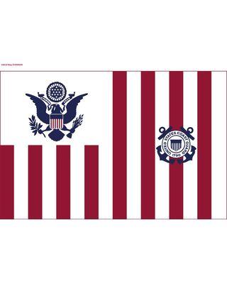 60 in. x 96 in. U.S. Coast Guard Ensign Flag - Size 3