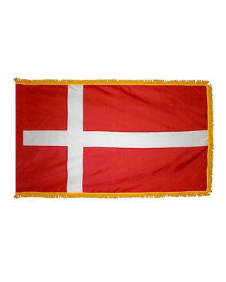 3ft. x 5ft. Denmark Flag for Parades & Display with Fringe