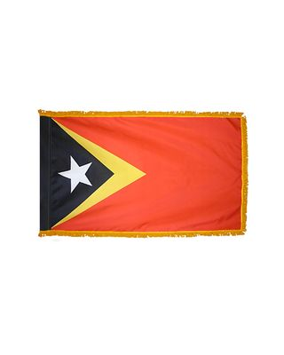 3ft. x 5ft. East Timor Flag for Parades & Display with Fringe