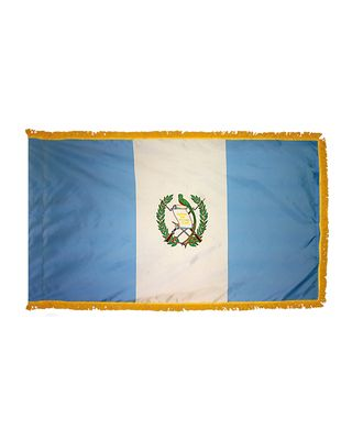 4ft. x 6ft. Guatemala Flag Seal for Parades & Display with Fringe