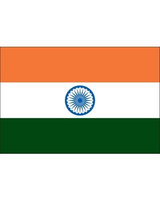 2ft. x 3ft. India Flag for Indoor Display