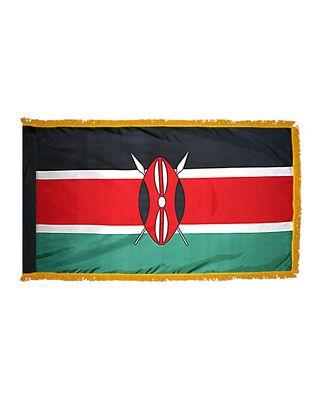 4ft. x 6ft. Kenya Flag for Parades & Display with Fringe