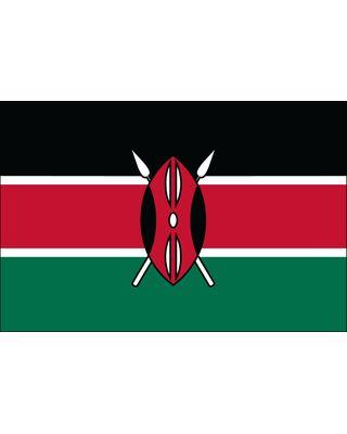 2ft. x 3ft. Kenya Flag for Indoor Display