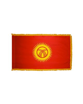 4ft. x 6ft. Kyrgyzstan Flag for Parades & Display with Fringe
