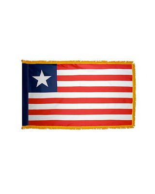 3ft. x 5ft. Liberia Flag for Parades & Display with Fringe