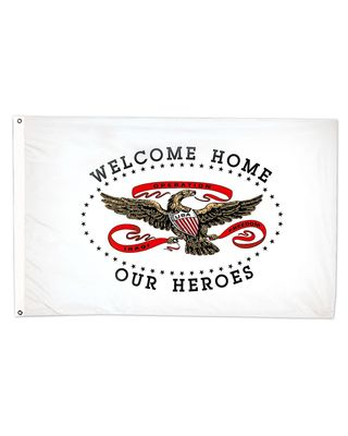 3ft. x 5ft. Welcome Home Our Hero Flag