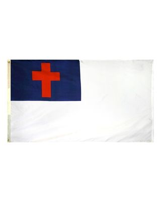 3ft. x 5ft. Christian Flag Sewn