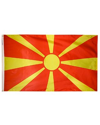4ft. x 6ft. Macedonia Flag with Brass Grommets