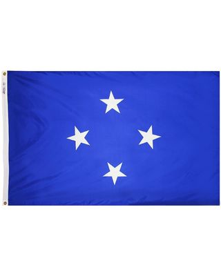 4ft. x 6ft. Micronesia Flag w/ Line Snap & Ring