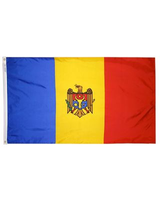 2ft. x 3ft. Moldova Flag with Canvas Header